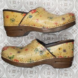 Dansko Floral Clogs Size 41